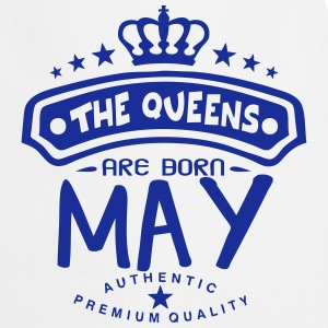 may born queens crown logo  Aprons - Cooking Apron