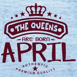 april born queens crown logo Tops - Women's Tank Top by Bella