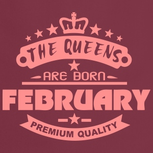 february born queens crown logo  Aprons - Cooking Apron