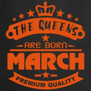 march born queens crown logo  Aprons - Cooking Apron