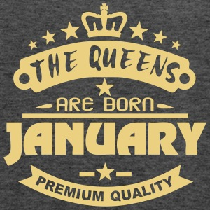 january born queens crown logo Tops - Women's Tank Top by Bella