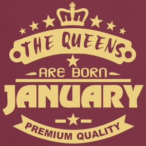 january born queens crown logo  Aprons - Cooking Apron