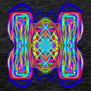 turtle tortoise trippy abstract psychedelic colorf - Männer Premium T-Shirt