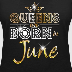 June - Queen - Birthday - 2 T-shirts - Vrouwen T-shirt met V-hals