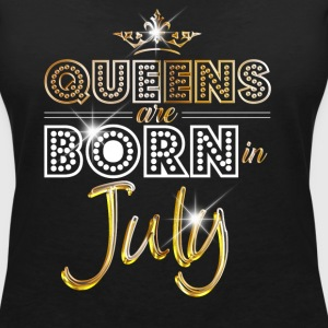 July - Queen - Birthday - 2 T-shirts - T-shirt med v-ringning dam