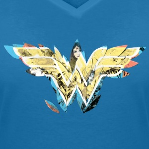 DC Comics Wonder Woman Filled Logo Drawings - Vrouwen T-shirt met V-hals