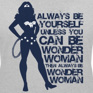 DC Comics Wonder Woman Always Be Yourself - T-shirt col V Femme