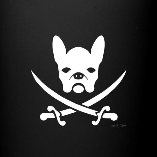 weiße Bulldogge Pirat