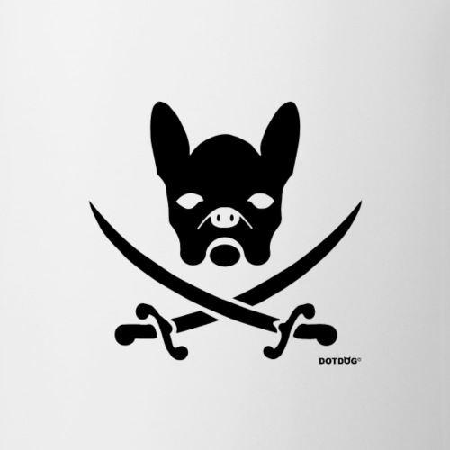 schwarz Bulldoge Pirat