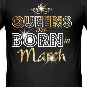 March - Queen - Birthday - 2 T-shirts - Slim Fit T-shirt herr
