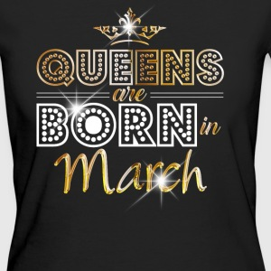 March - Queen - Birthday - 2 T-shirts - Organic damer