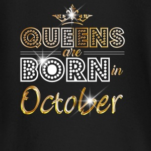 October - Queen - Birthday - 2 Baby Long Sleeve Shirts - Baby Long Sleeve T-Shirt