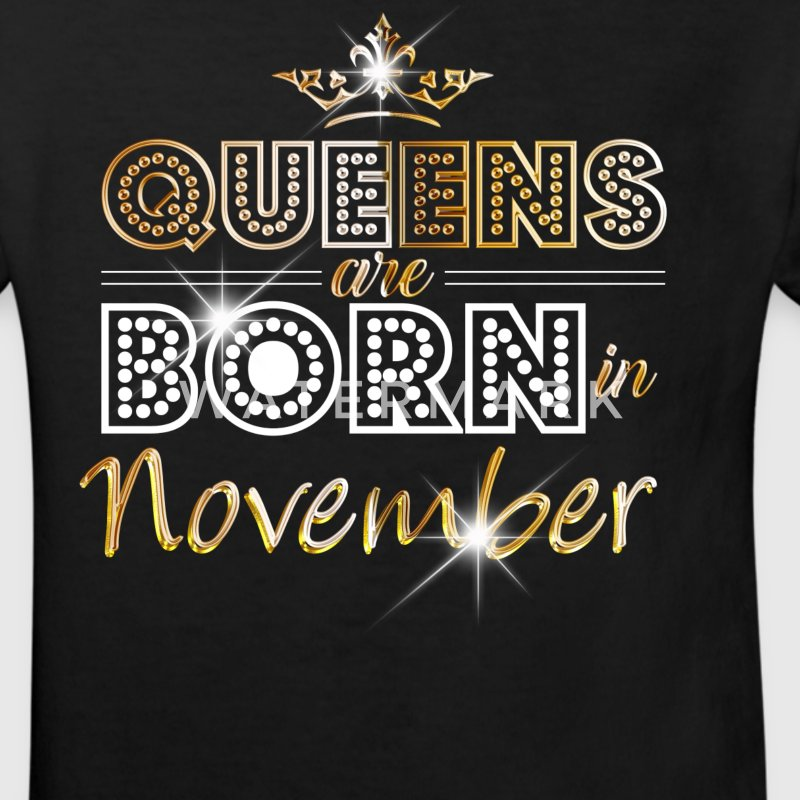 November - Queen - Birthday - 2 T-shirts - Organic børne shirt