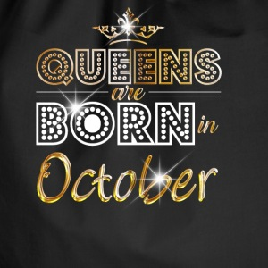 October - Queen - Birthday - 2 Bags & Backpacks - Drawstring Bag