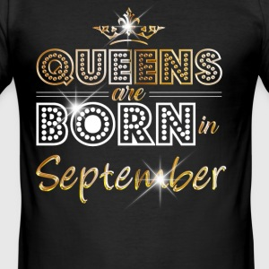 September - Queen - Birthday - 2 T-shirts - Slim Fit T-shirt herr