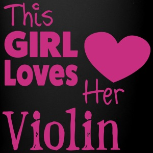 This Girl Loves Her Violin, Mug - Full Colour Mug
