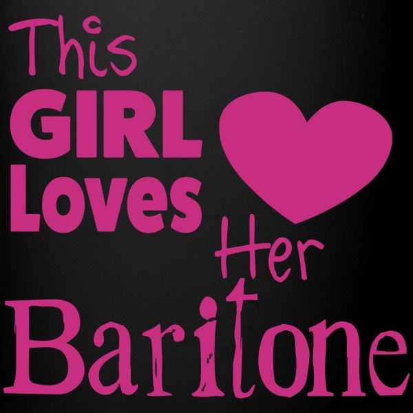 This Girl Loves Her Baritone, Mug - Full Colour Mug