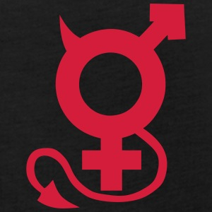 Symbol man woman sex devil naughty T-Shirts - Women's Oversize T-Shirt