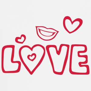 Love lips heart kiss  Aprons - Cooking Apron