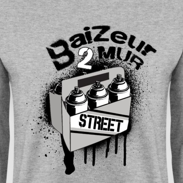 baizeur 2 mur.png Sweat-shirts - Sweat-shirt Homme