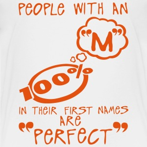 m perfect letter first names citation Shirts - Teenage Premium T-Shirt