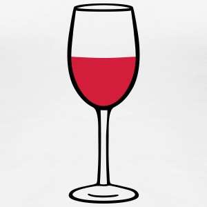 Wine glass T-shirts - Dame premium T-shirt