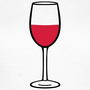 Wine glass T-shirts - T-shirt dam