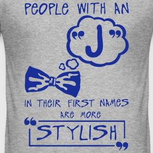 j stylish letter first names citation T-Shirts - Men's Slim Fit T-Shirt