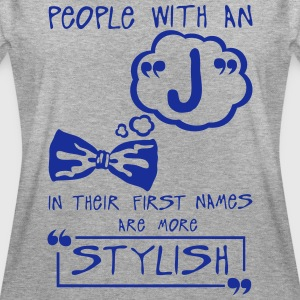 j stylish letter first names Zitat T-Shirts - Frauen Oversize T-Shirt