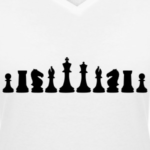 Chess, chess pieces T-shirts - T-shirt med v-ringning dam
