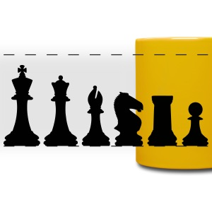 Chess, chess pieces Tazze & Accessori - Tazza colorata con vista