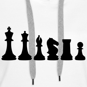 Chess, chess pieces Sweatshirts - Dame Premium hættetrøje