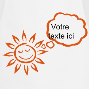 Sun bubble blank thinking add text  Aprons - Cooking Apron