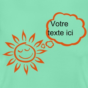 Sun bubble blank thinking add text T-Shirts - Women's T-Shirt