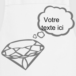 Diamond bubble blank thinking add text  Aprons - Cooking Apron