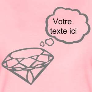 Diamond bubble blank thinking add text T-Shirts - Women's Premium T-Shirt