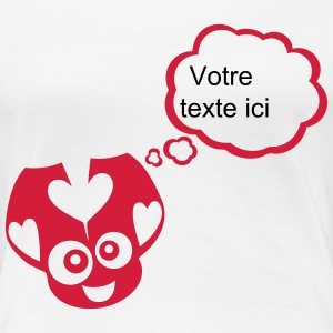 Ladybug bubble thinking blank add text T-Shirts - Women's Premium T-Shirt