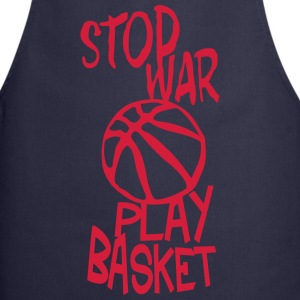 basketball play stop war quote citation  Aprons - Cooking Apron