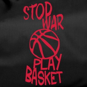 basketball play stop war quote citation Bags & Backpacks - Duffel Bag