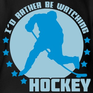 I'd Rather Be Watching Hockey Baby Bodysuits - Organic Short-sleeved Baby Bodysuit