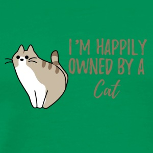 Katzen: I´m happily owned by a cat! - Männer Premium T-Shirt