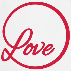 love Liebe circle typography graphic font  Aprons - Cooking Apron