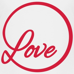 love Liebe circle typography graphic font Shirts - Teenage Premium T-Shirt