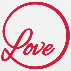 love Liebe circle typography graphic font Sports wear - Men's Premium Tank Top