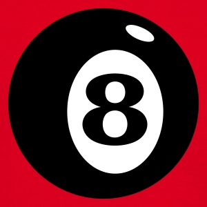 Rood biljartbal acht / number 8 ball (2c) T-shirts - Mannen T-shirt