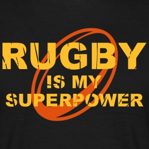 Rugby is my superpower ger T-Shirts - Männer T-Shirt