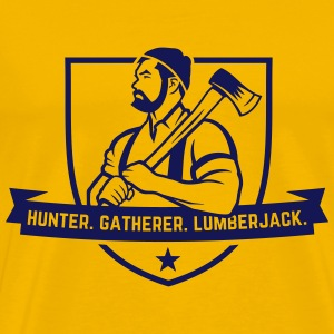Hunter. Gatherer. Lumberjack. T-Shirts - Men's Premium T-Shirt