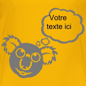 Koala bubble thinking blank add text Shirts - Kids' Premium T-Shirt
