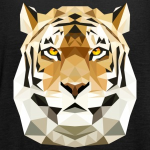Tiger Katze low poly polygon Raubtier Raubkatze Tops - Frauen Tank Top von Bella