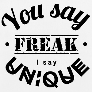 you say freak I say unique casting spells individually Bags & Backpacks - EarthPositive Tote Bag